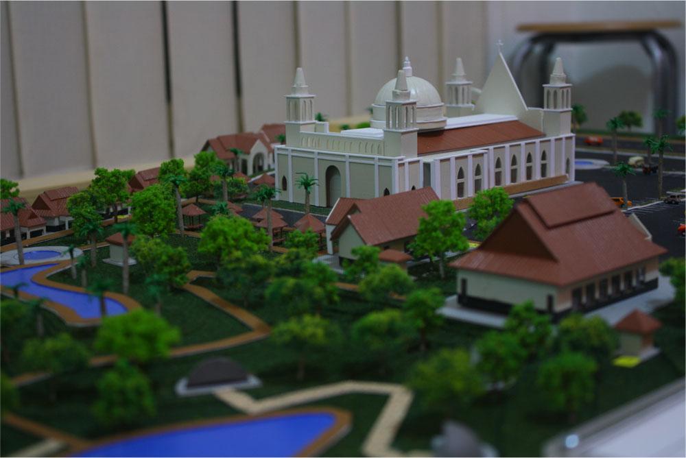 Maket Masterplan Gereja Lamandau