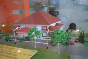 Maket Perpustakaan Gunung Sempu Jogjakarta