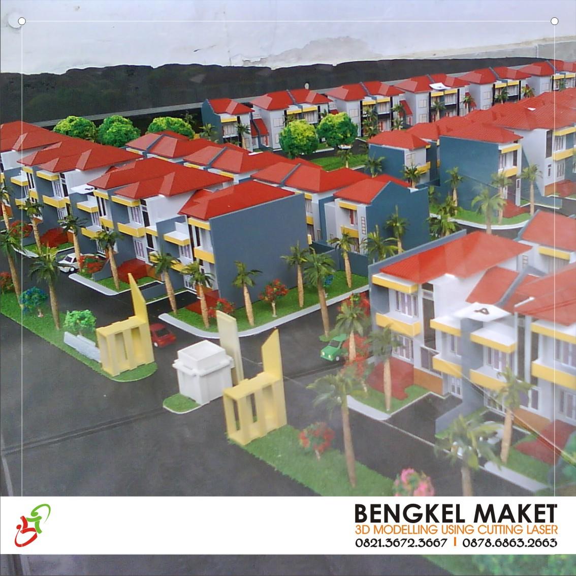3. maket kawasan palm residence, KENDARI.