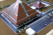 21. maket gedung javanologi UNS, SOLO.